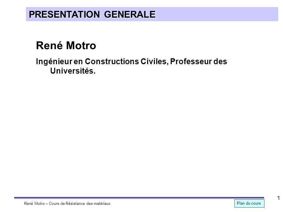 René Motro PRESENTATION GENERALE