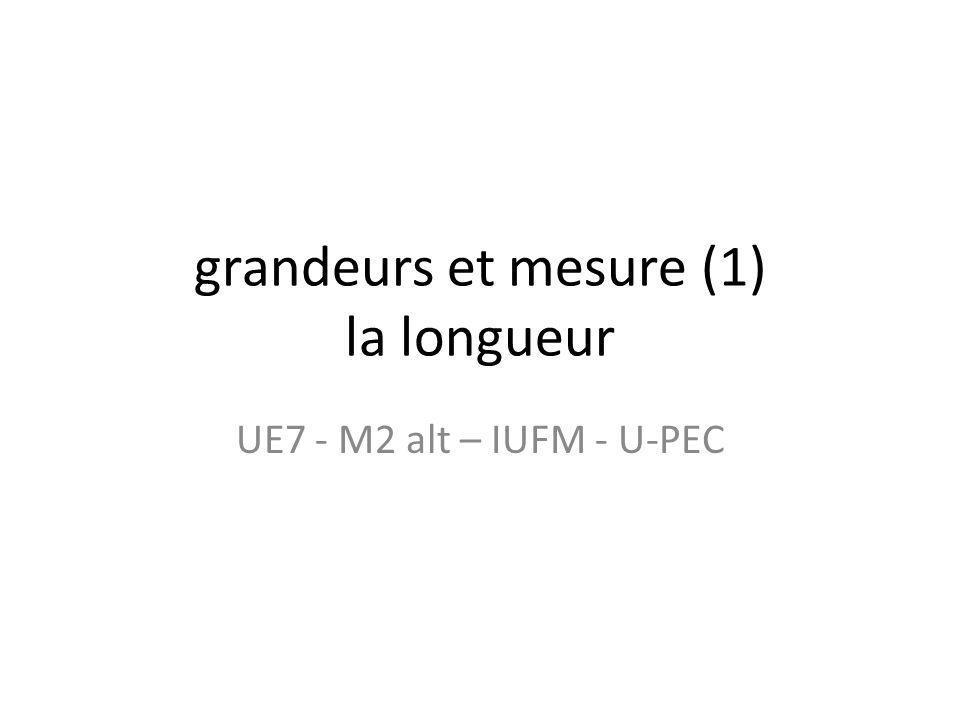 grandeurs et mesure (1) la longueur