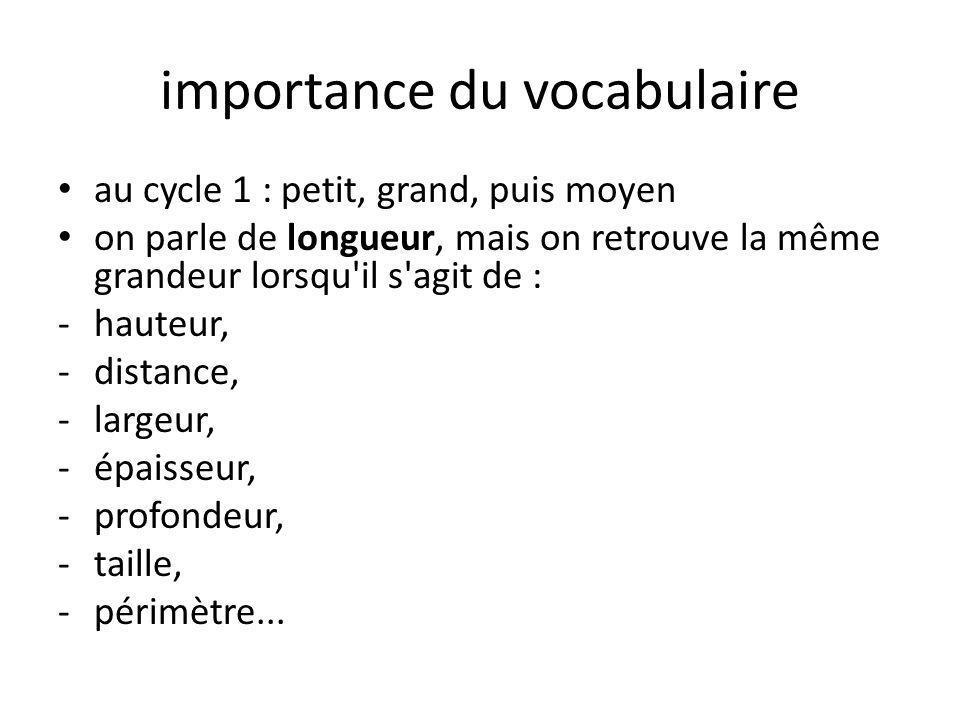importance du vocabulaire