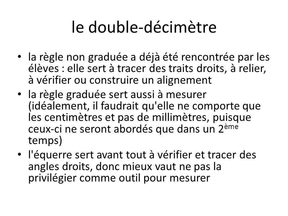 le double-décimètre