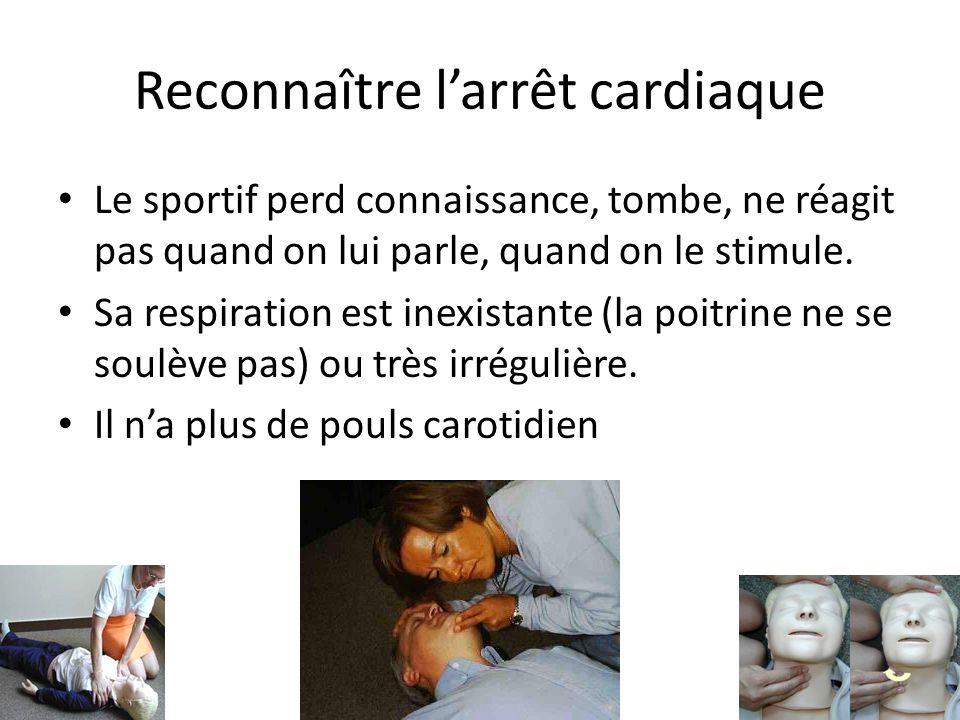 Reconnaître l'arrêt cardiaque