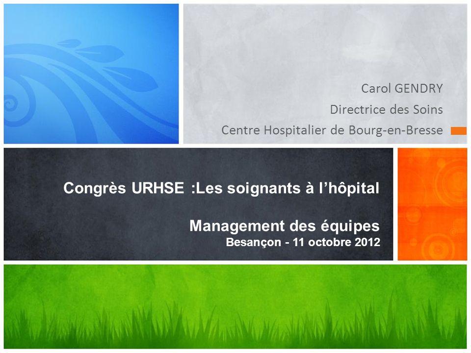 Carol GENDRY Directrice des Soins. Centre Hospitalier de Bourg-en-Bresse.