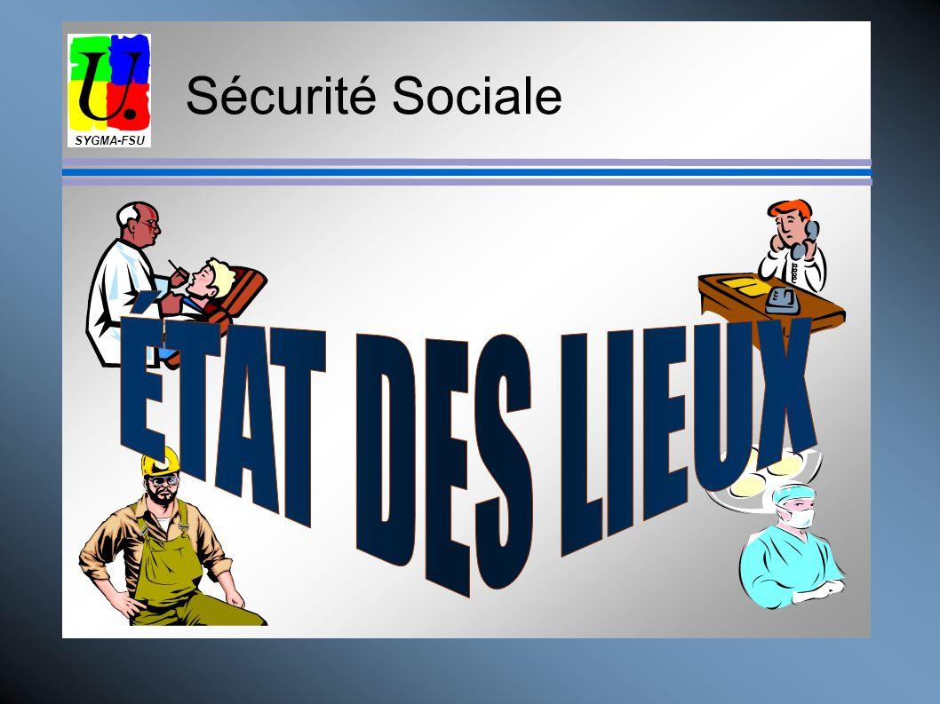 SYGMA-FSU Sécurité Sociale ÉTAT DES LIEUX