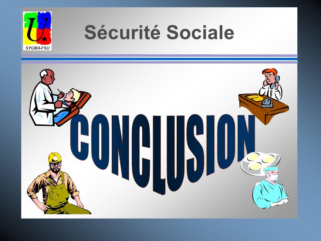 SYGMA-FSU Sécurité Sociale CONCLUSION