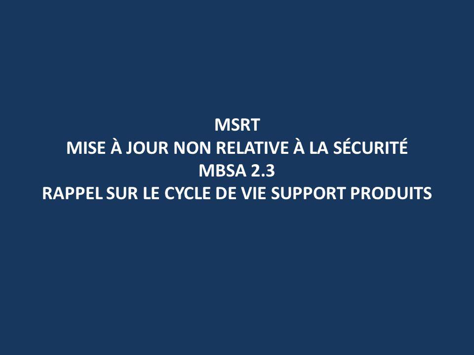 MSRT Mise à jour non relative à la sécurité MBSA 2