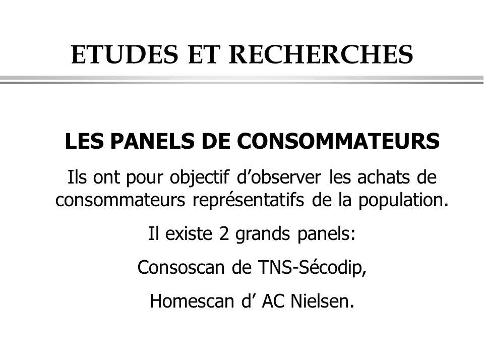 LES PANELS DE CONSOMMATEURS