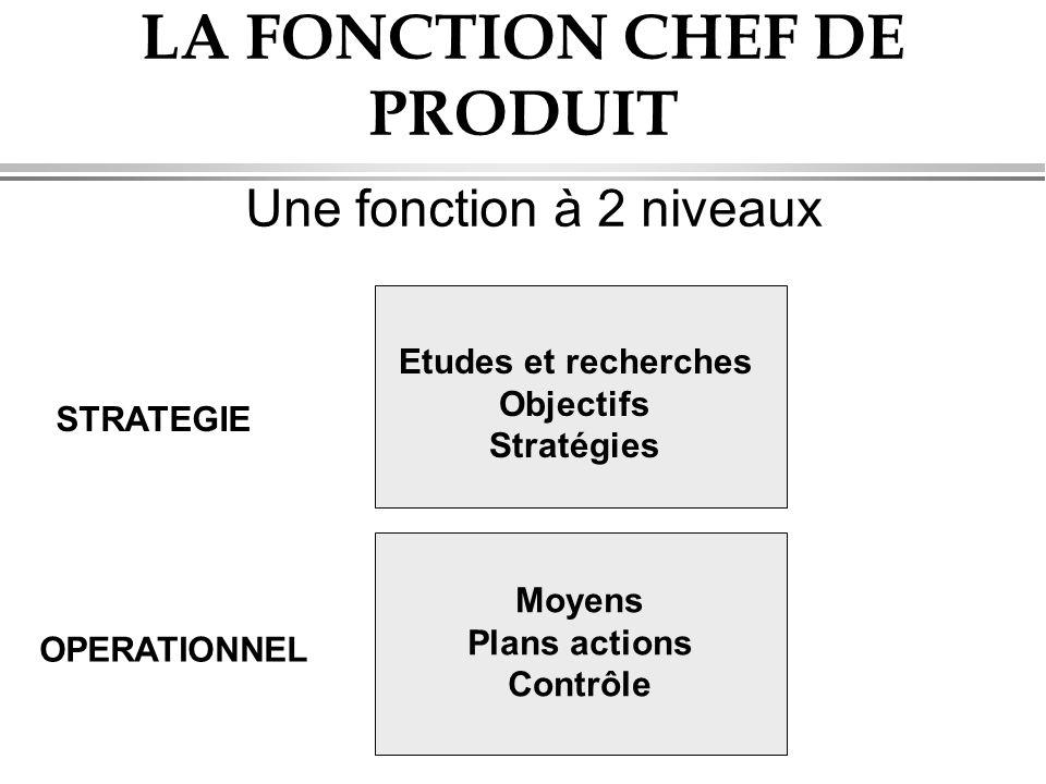 LA FONCTION CHEF DE PRODUIT