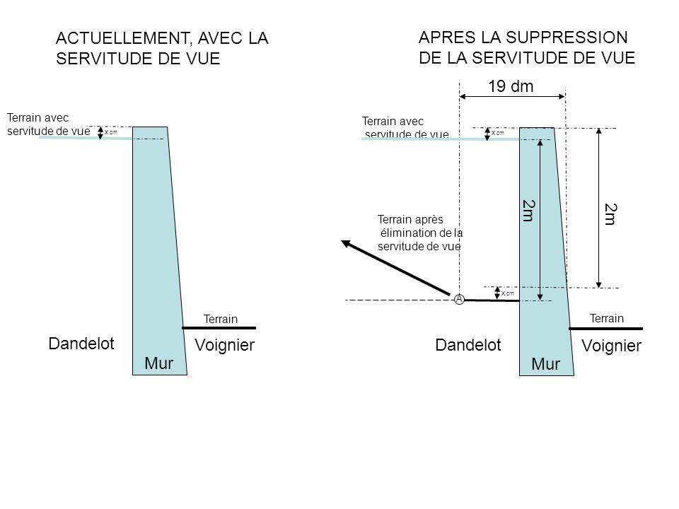 ACTUELLEMENT, AVEC LA APRES LA SUPPRESSION SERVITUDE DE VUE