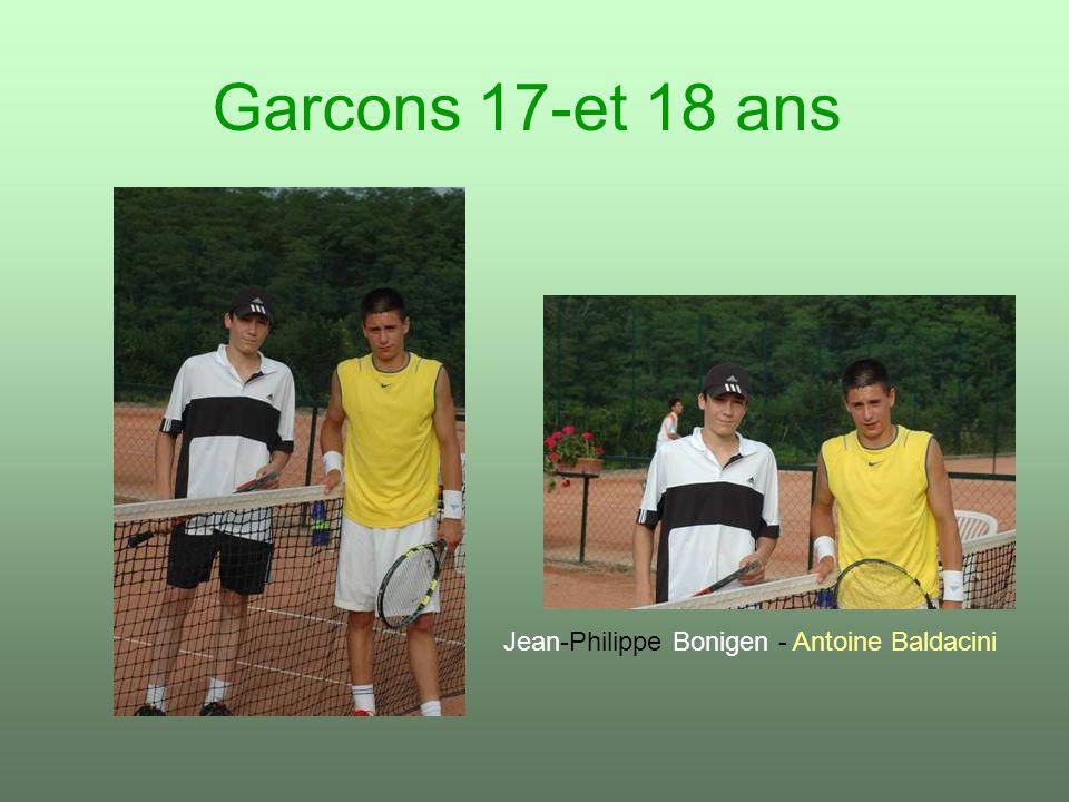 Garcons 17-et 18 ans Jean-Philippe Bonigen - Antoine Baldacini