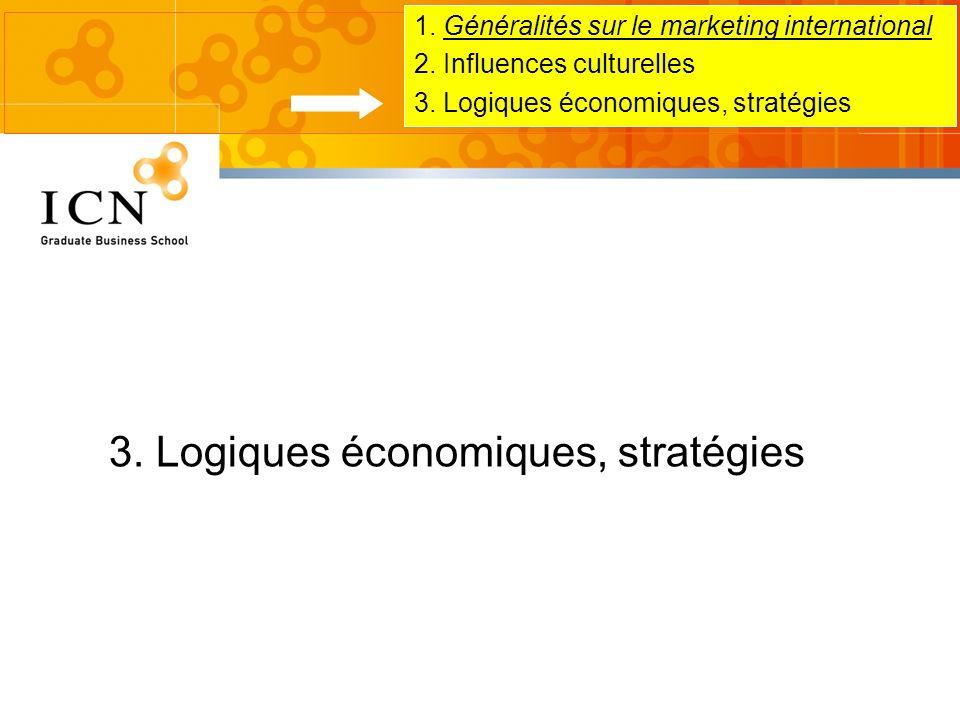 3. Logiques économiques, stratégies