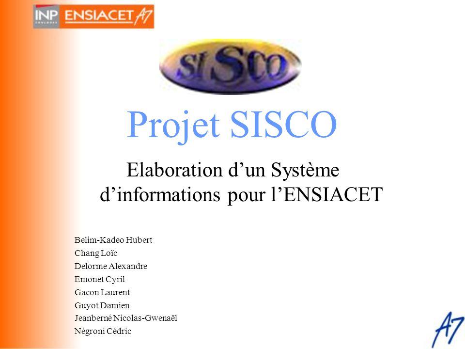Elaboration d'un Système d'informations pour l'ENSIACET