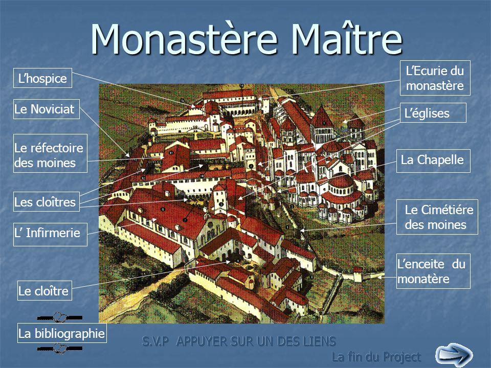 Monastère Maître L'Ecurie du monastère L'hospice Le Noviciat L'églises