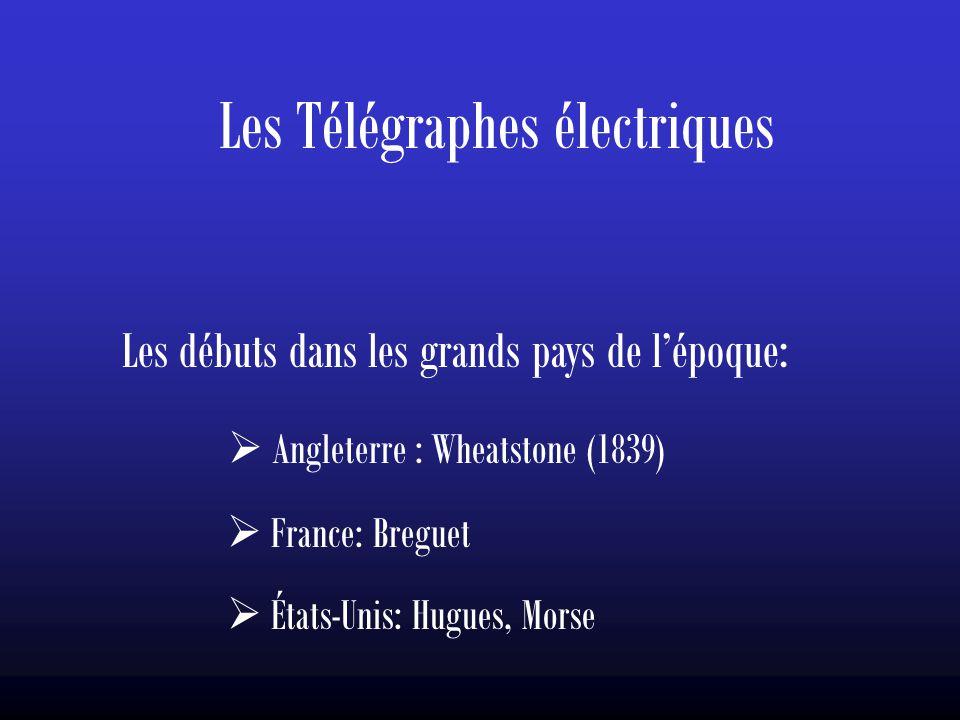 Les Télégraphes électriques