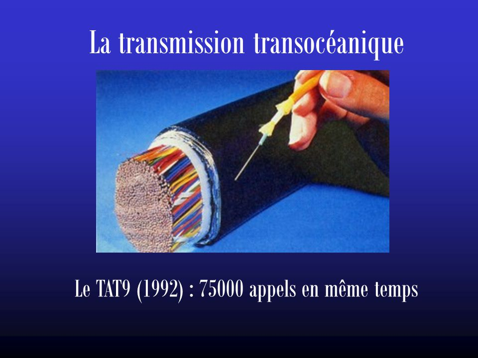 La transmission transocéanique