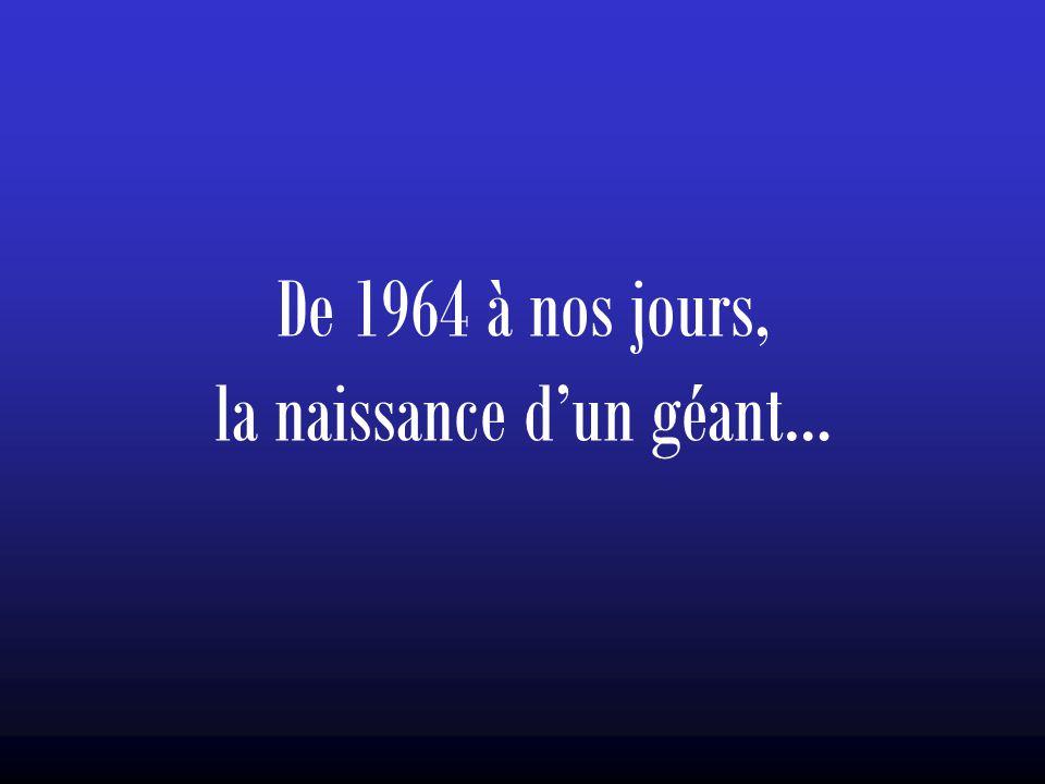 De 1964 à nos jours, la naissance d'un géant…