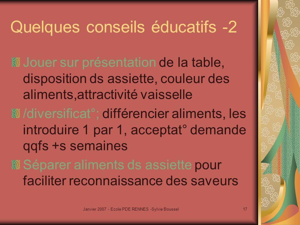 Quelques conseils éducatifs -2