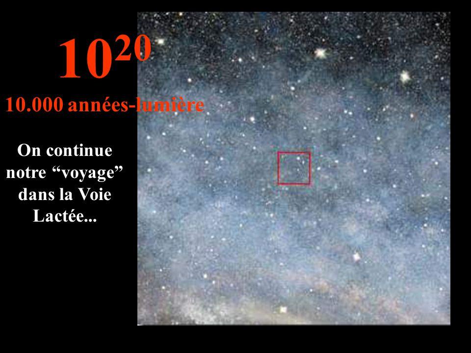On continue notre voyage dans la Voie Lactée...
