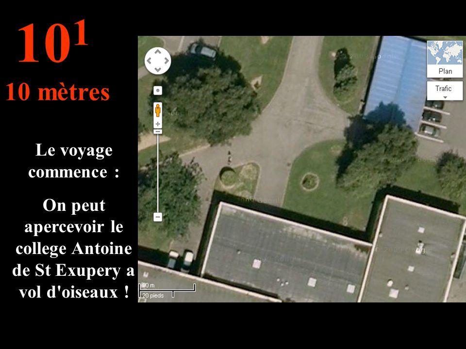 On peut apercevoir le college Antoine de St Exupery a vol d oiseaux !