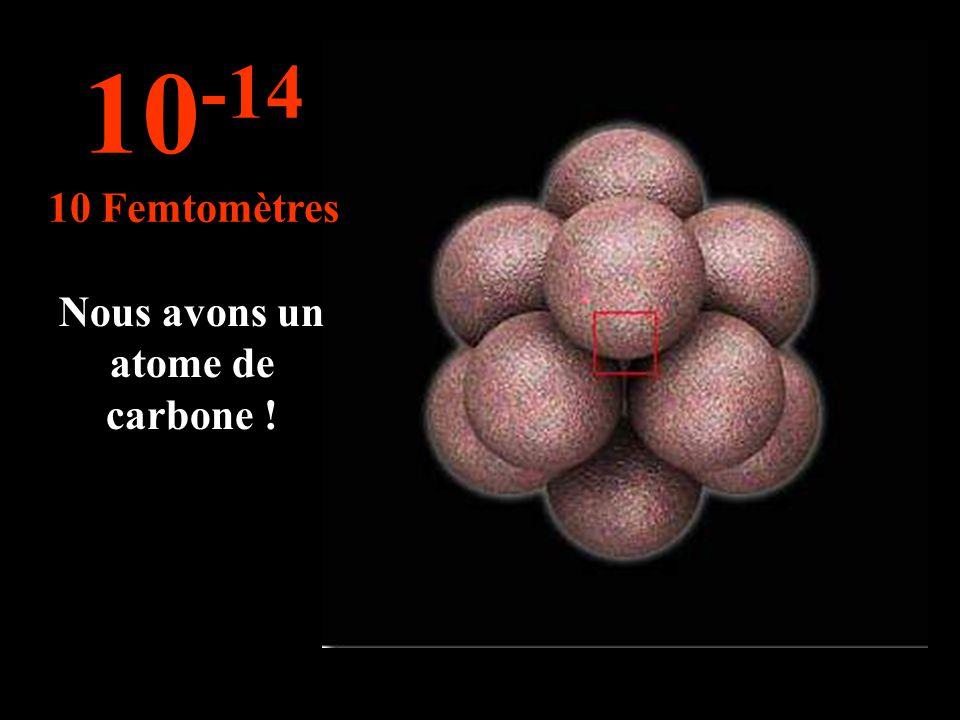 Nous avons un atome de carbone !