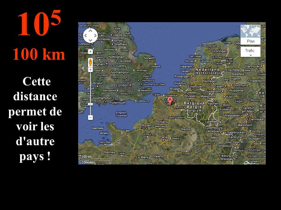 Cette distance permet de voir les d autre pays !