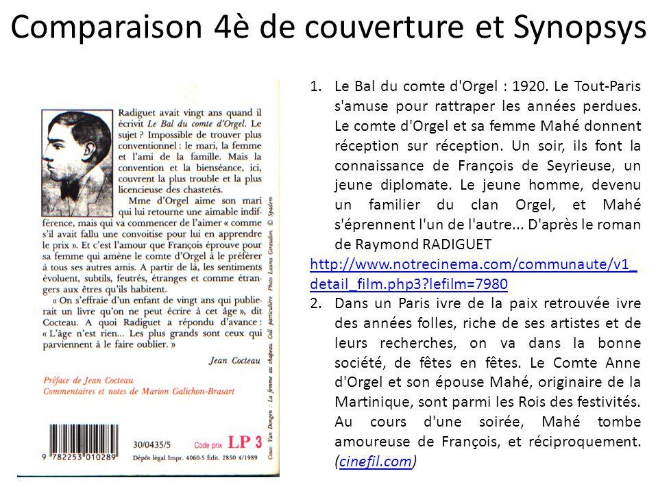 Comparaison 4è de couverture et Synopsys