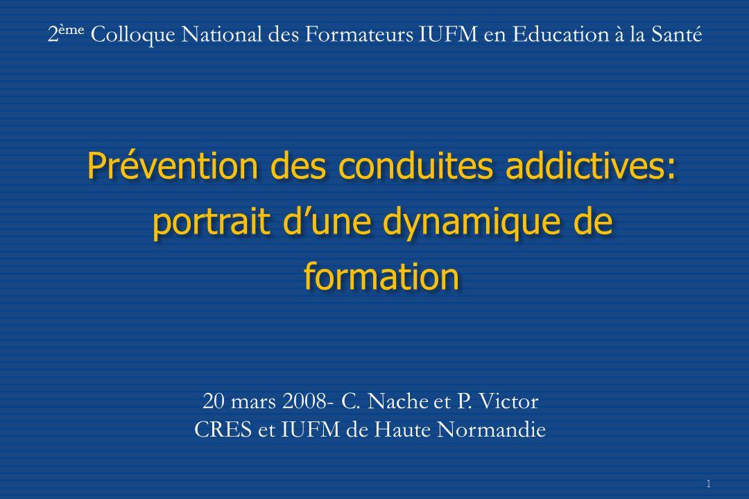 2ème Colloque National des Formateurs IUFM en Education à la Santé