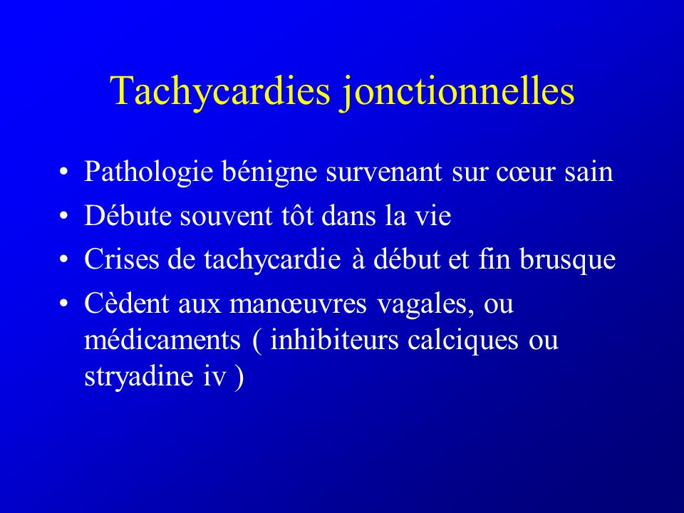 Tachycardies jonctionnelles
