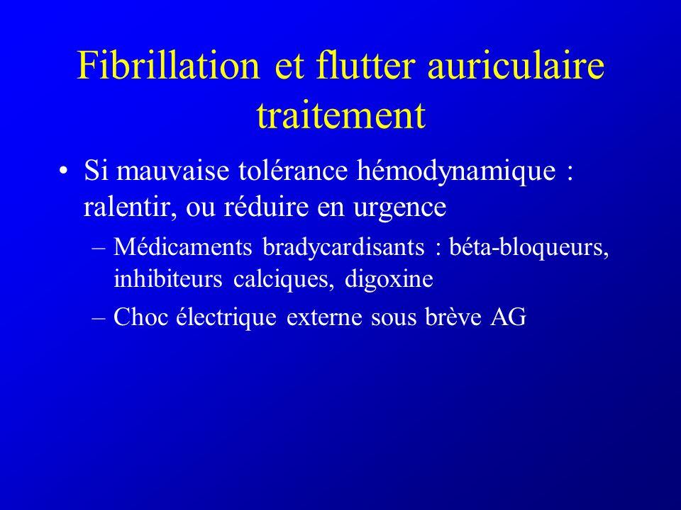 Fibrillation et flutter auriculaire traitement