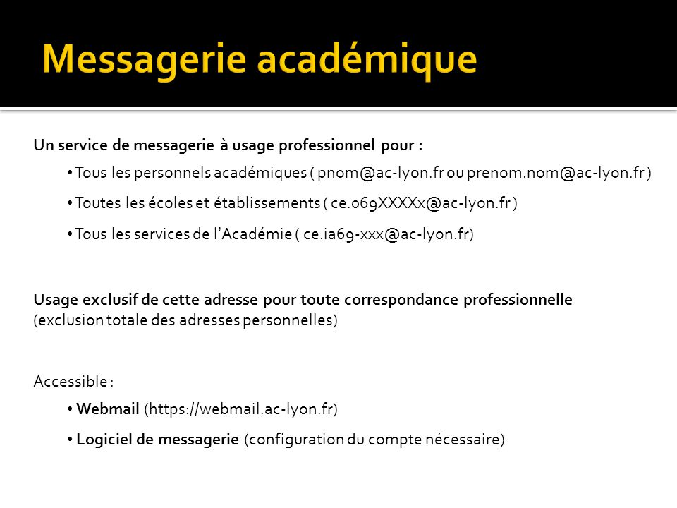 Messagerie académique