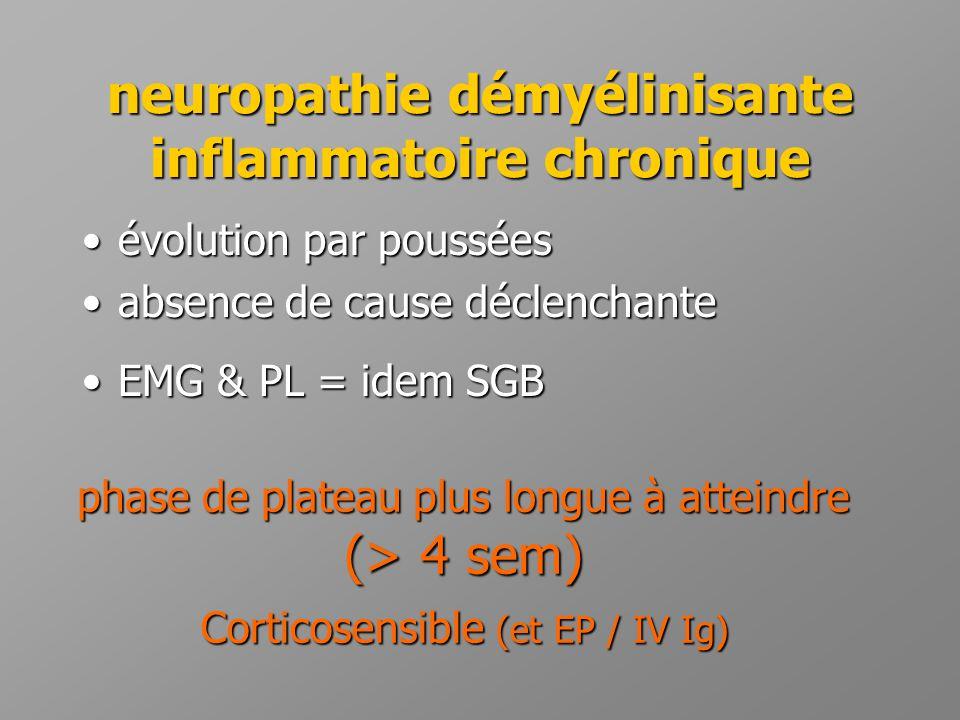 neuropathie démyélinisante inflammatoire chronique