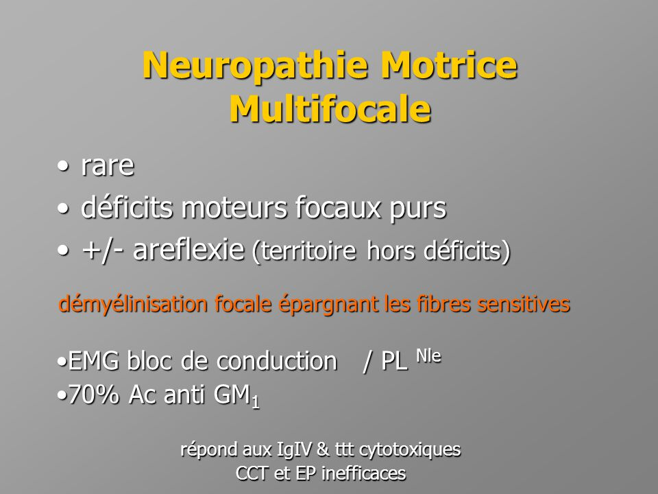Neuropathie Motrice Multifocale