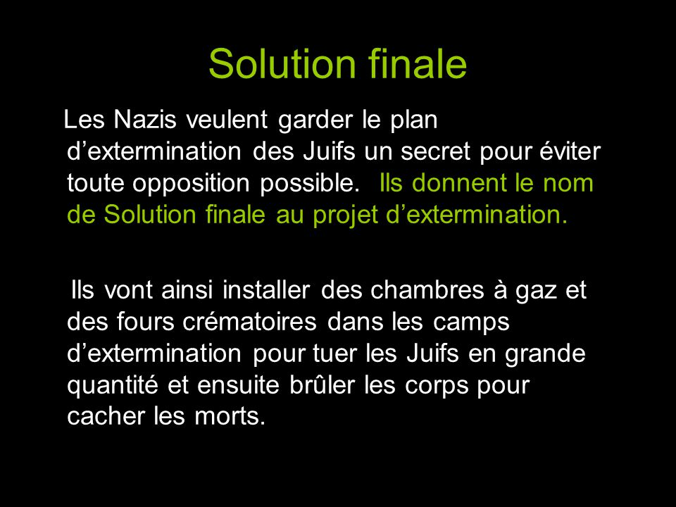 Solution finale