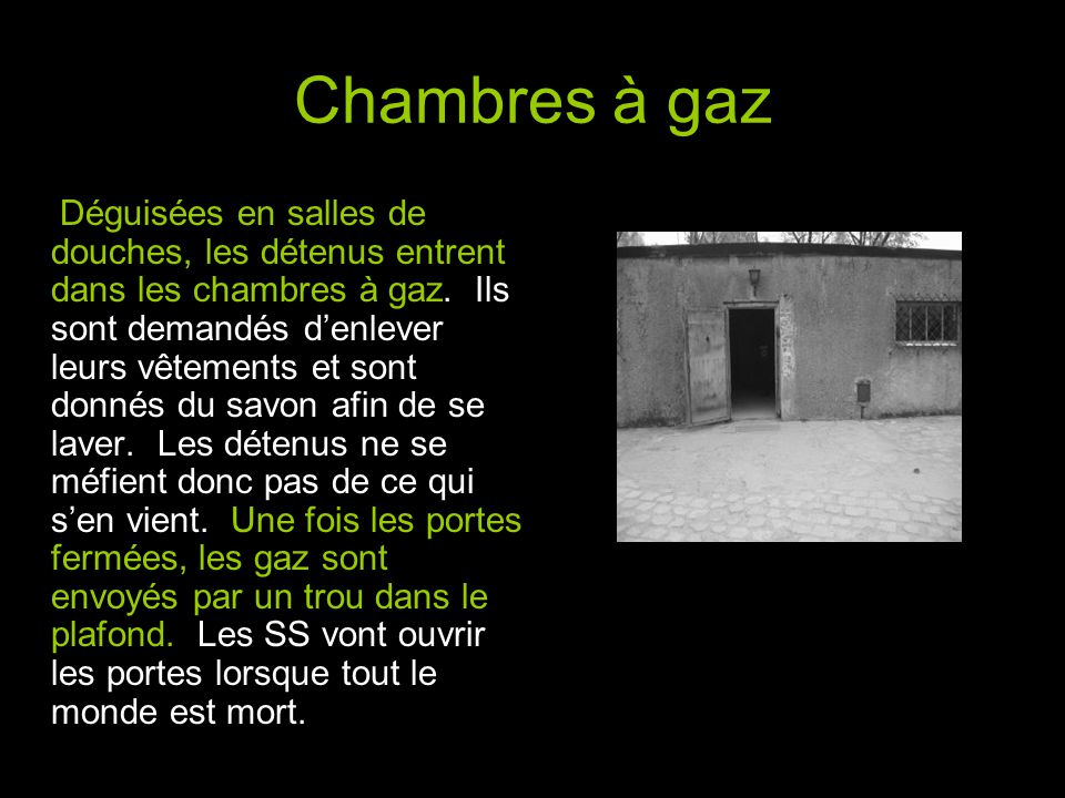 Chambres à gaz