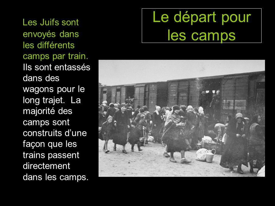 Le départ pour les camps