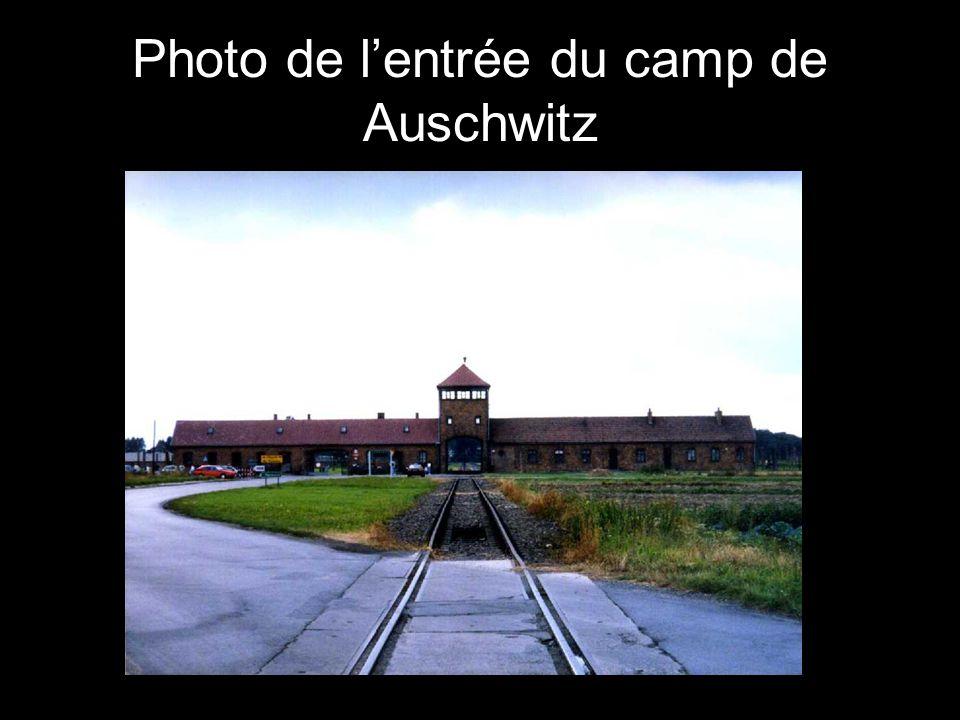Photo de l'entrée du camp de Auschwitz