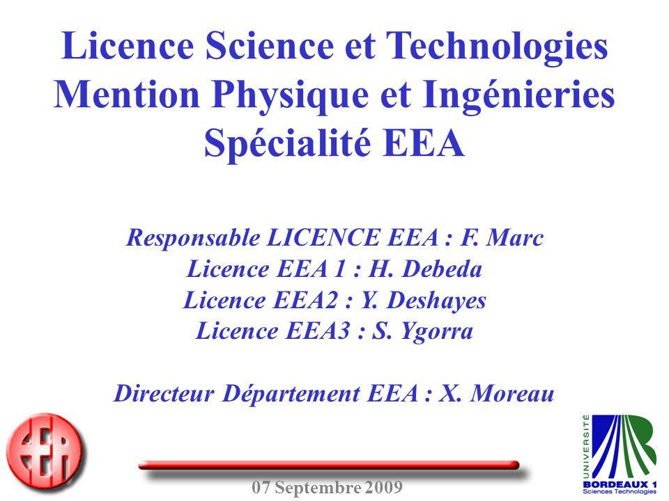 Licence Science et Technologies Mention Physique et Ingénieries
