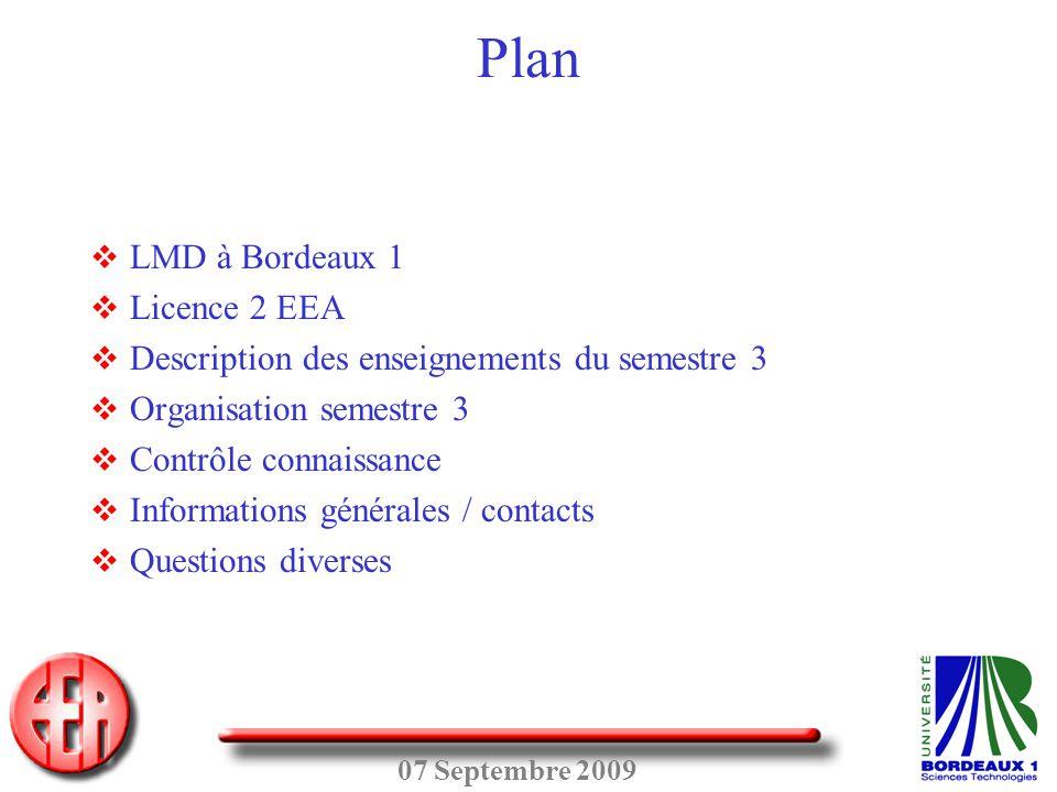 Plan LMD à Bordeaux 1 Licence 2 EEA