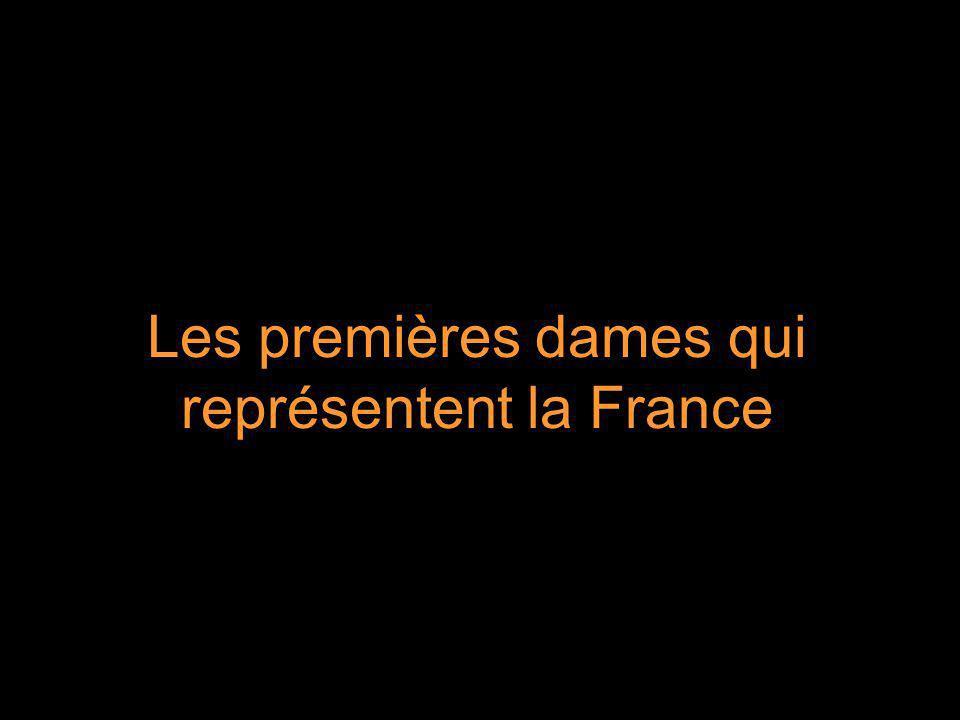 Les premières dames qui représentent la France