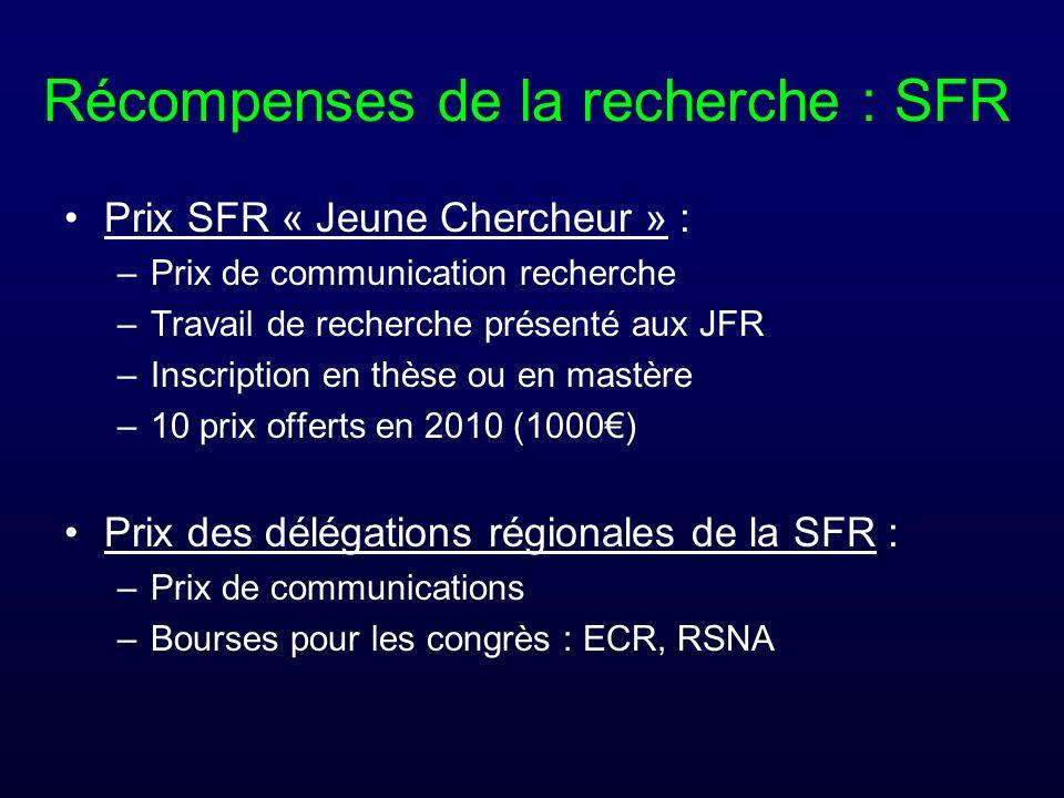 Récompenses de la recherche : SFR