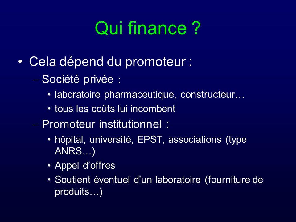 Qui finance Cela dépend du promoteur : Société privée :