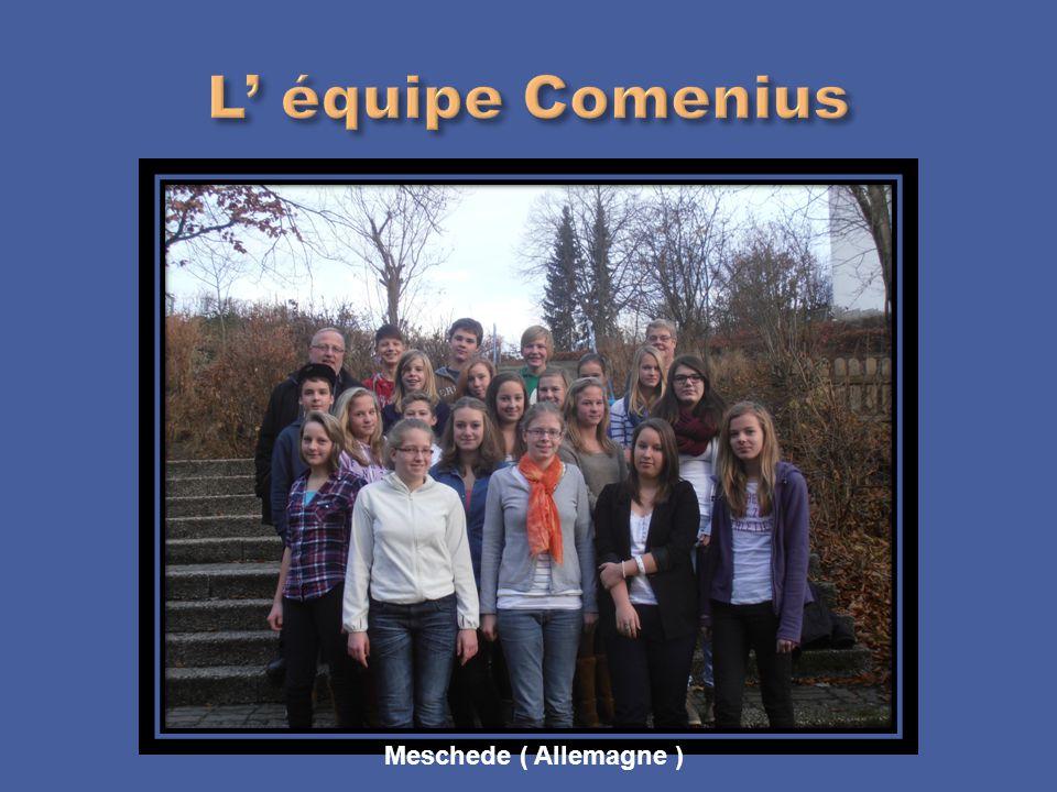 L' équipe Comenius Meschede ( Allemagne )