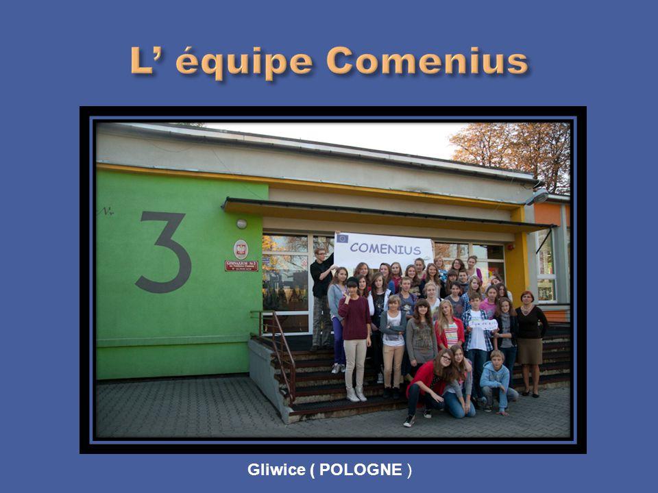 L' équipe Comenius Gliwice ( POLOGNE )