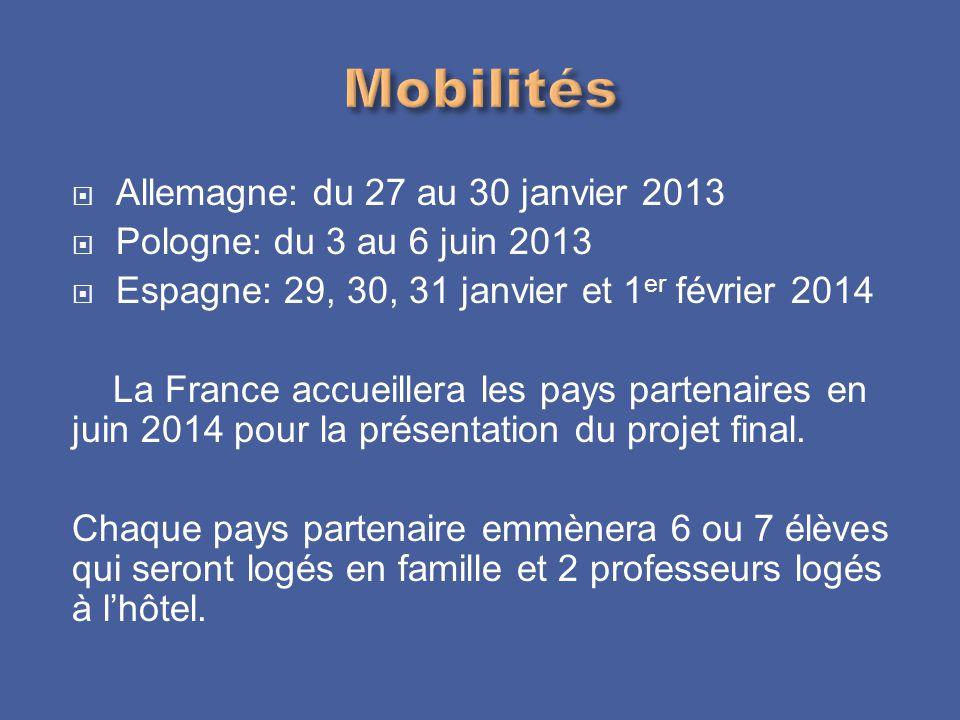 Mobilités Allemagne: du 27 au 30 janvier 2013