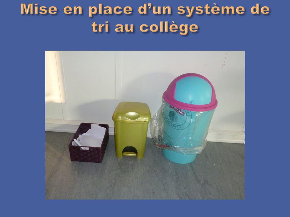 Mise en place d'un système de tri au collège
