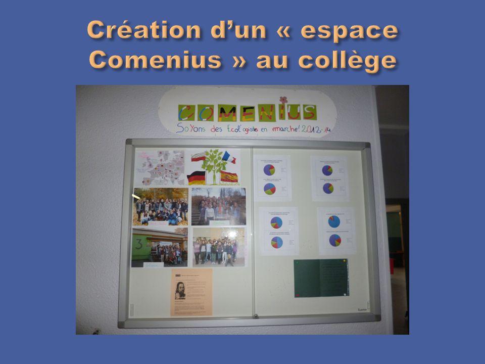 Création d'un « espace Comenius » au collège