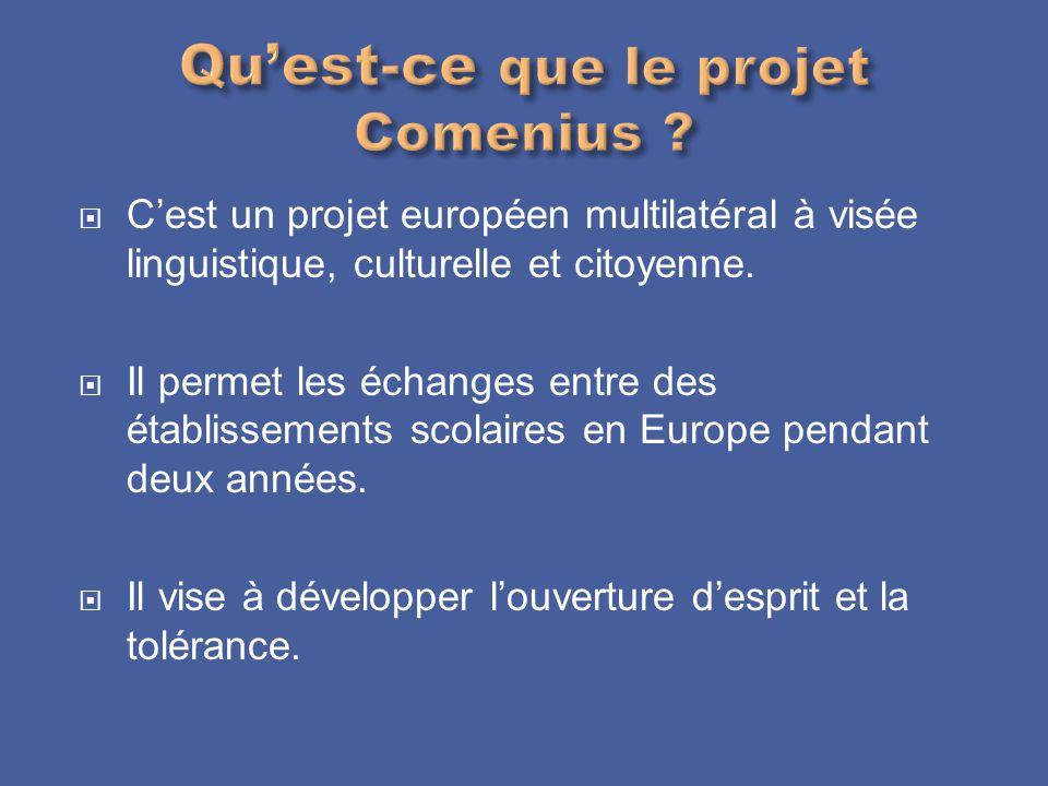 Qu'est-ce que le projet Comenius