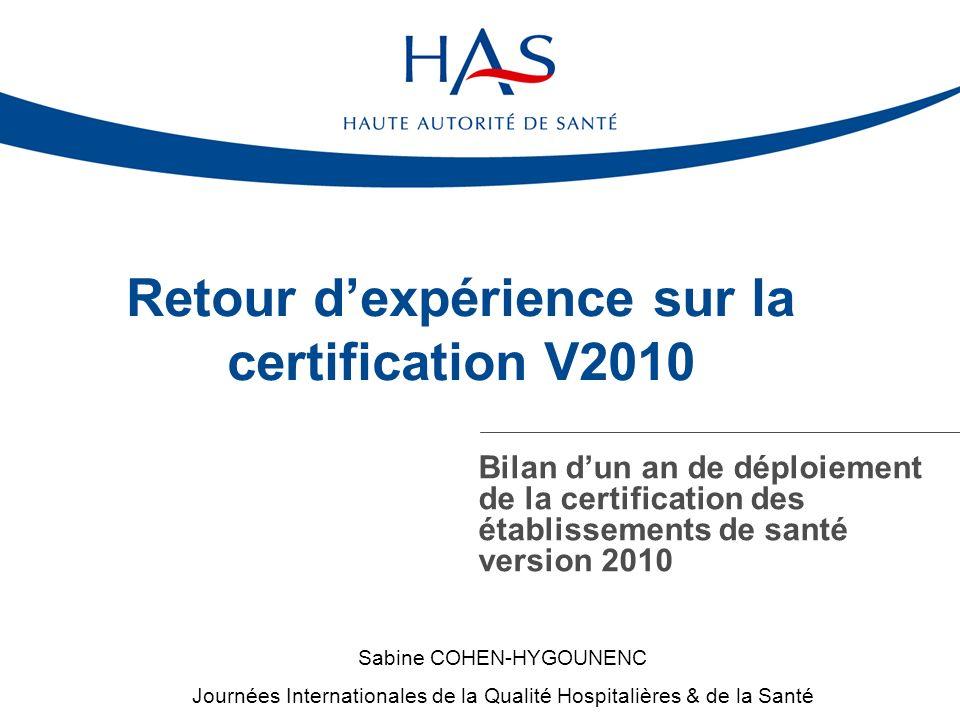 Retour d'expérience sur la certification V2010