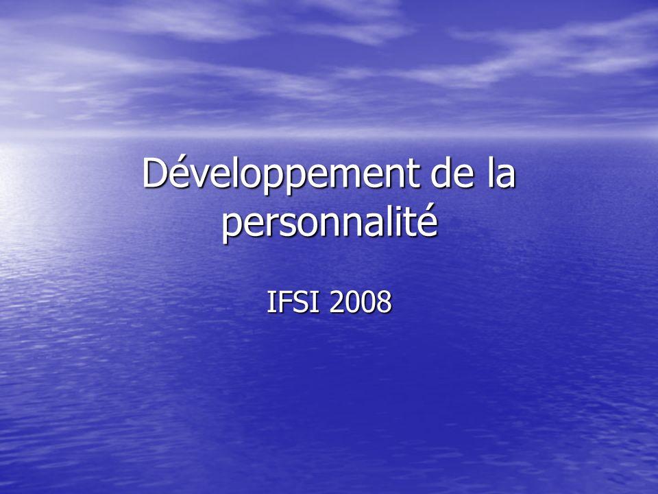 Développement de la personnalité