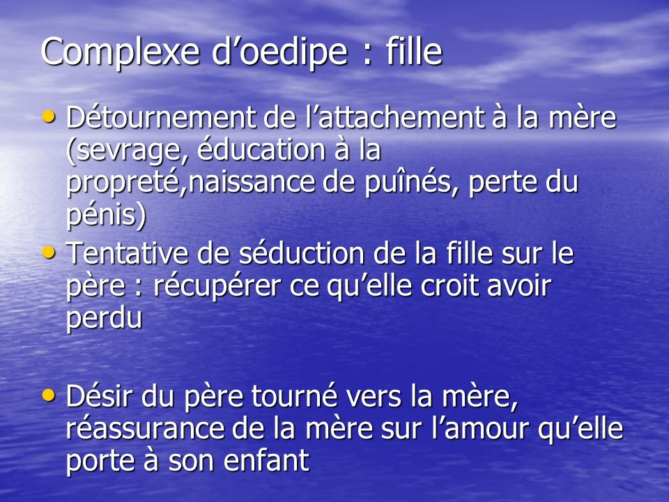 Complexe d'oedipe : fille