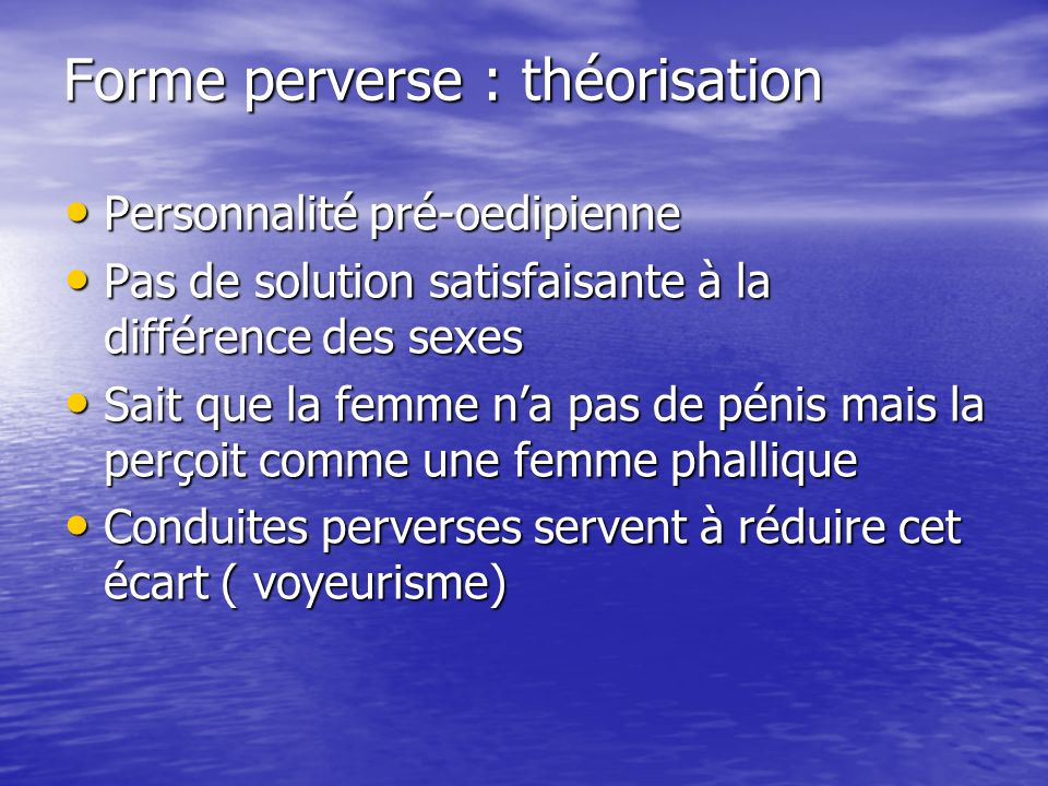 Forme perverse : théorisation